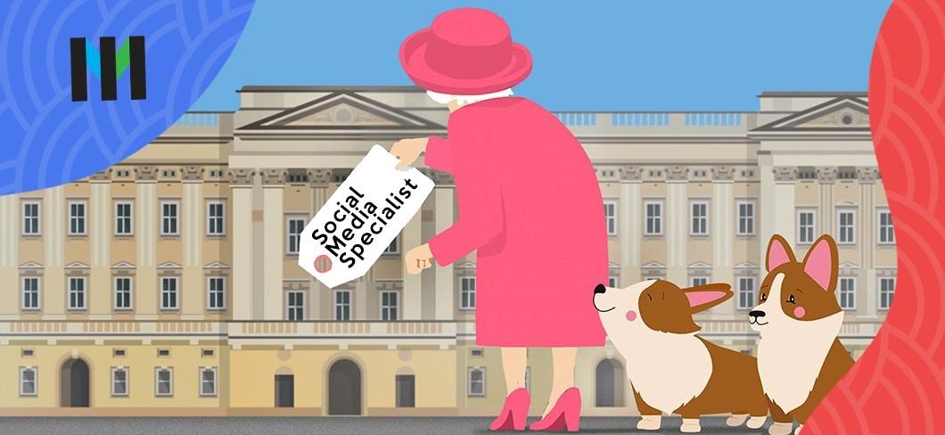 królowa elżbieta social media