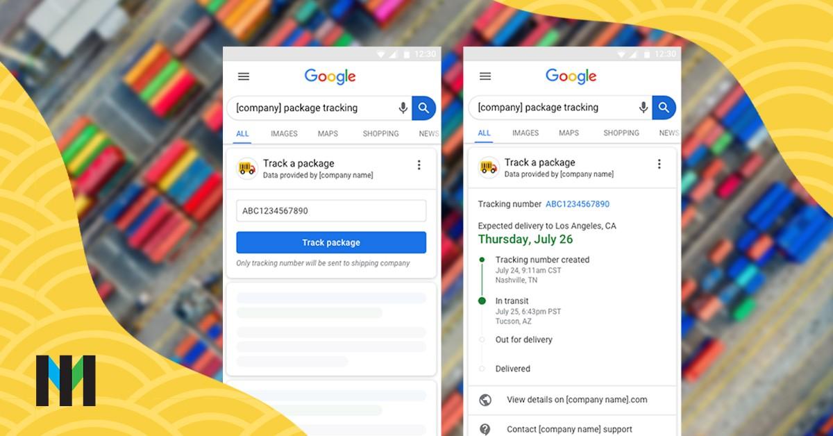 śledzenie paczek google